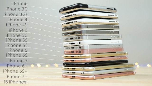 Every Iphone Comparison 7